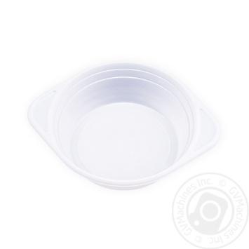 Тарелка одноразовая пластиковая 152мм 500мл 100шт