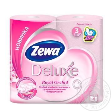 Туалетний папір Zewa Deluxe Royal Orchid рожевий 3-х шарова 4шт - купити, ціни на Novus - фото 1