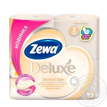 Zewa Deluxe Aroma Spa 3-ply toilet paper 4pcs - buy, prices for Novus - image 1