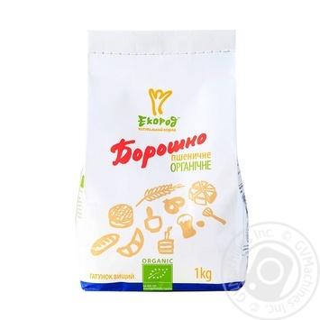 Борошно Екород пшеничне органічне вищий гатунок 1кг - купити, ціни на МегаМаркет - фото 1