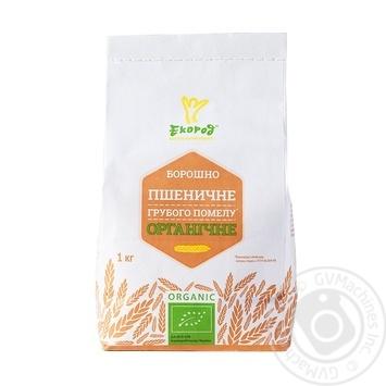 Борошно Екород пшеничне органічне грубого помелу 1кг - купити, ціни на МегаМаркет - фото 1