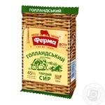Сыр Ферма Голландский твёрдый брусковый 45% 180г - купить, цены на Ашан - фото 1