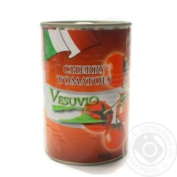 Томати чері в томатному соці консервовані пастеризовані Fiamma 400 г