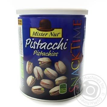 Фісташки смажені солоні Mister Nut ж/б 300г