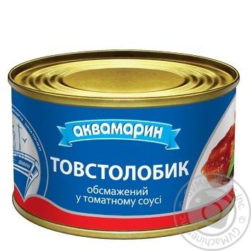 Толстолобик Аквамарин в томатном соусе 230г - купить, цены на Ашан - фото 1
