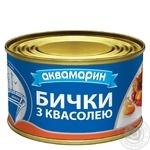 Бычки Аквамарин обжаренные с фасолью в остром томатном соусе 230г - купить, цены на Novus - фото 1