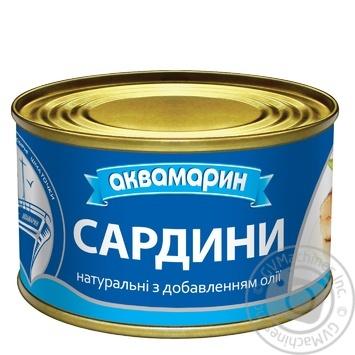 Сардины Аквамарин с добавлением масла 230г - купить, цены на Novus - фото 3
