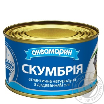 Скумбрия Аквамарин натуральная с добавлением масла 230г - купить, цены на Ашан - фото 2