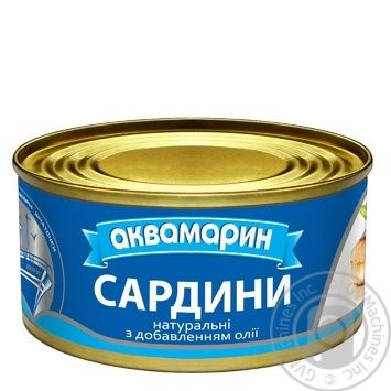 Aquamarine natural sardines with oil 185g - buy, prices for Novus - image 1