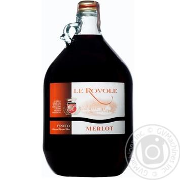 Вино Le Rovole Merlot червоне сухе 10% 5л - купити, ціни на Novus - фото 1