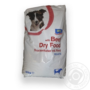 Aro with beef for dogs dry food 10kg - buy, prices for Metro - image 1