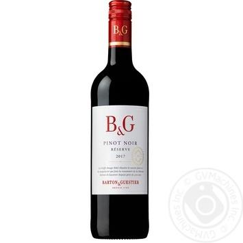 Вино червоне Бартон і Гестьє Піно Нуар Резерв виноградне сухе 12% скляна пляшка 750мл Франція