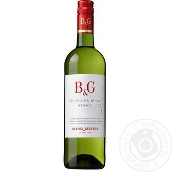 Вино біле Бартон і Гестьє Совіньйон Блан Резерв виноградне сухе 12% скляна пляшка 750мл