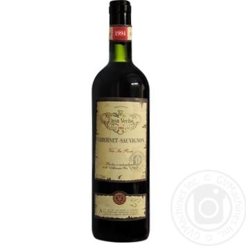 Вино красное Каса Вече Каберне Совиньон натуральное сухое 12% стеклянная бутылка 750мл Молдавия
