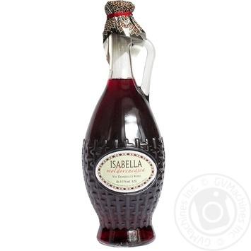 Wine izabella Aliantsa von tov red semisweet 11% 700ml glass bottle Moldova
