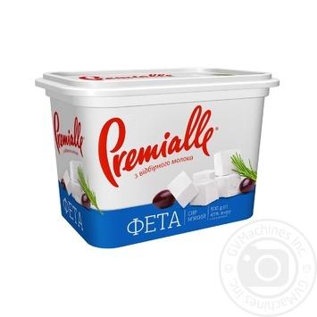 Сыр Premialle Фета 45% 500г - купить, цены на Фуршет - фото 1