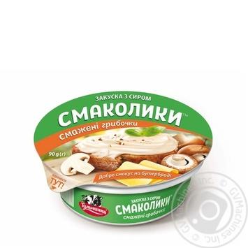 Закуска с сыром Тульчинка Смаколики жареные грибочки 55% 90г