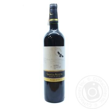 Вино Santa Alicia Reserva Syrah Valle del Maipo красное сухое 13,5% 0,75л