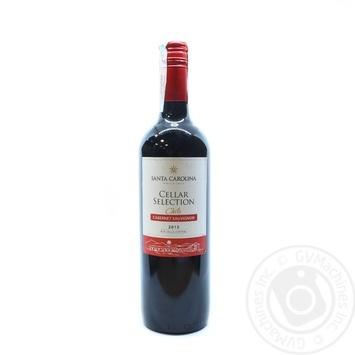 Вино Santa Carolina Cellar Selection Cabernet Sauvignon Valle Central DO красное полусухое 13% 0,75л