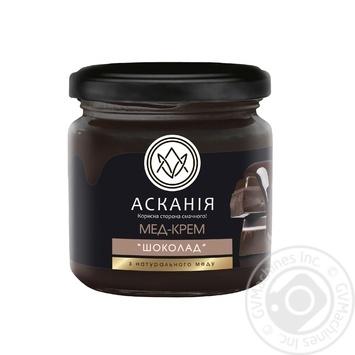 Honey-cream Askania with chocolate 250g glass jar - buy, prices for Novus - image 1
