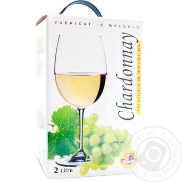 Вино  Alianta Vin Шардоне белое сухое 13% 2л - купить, цены на МегаМаркет - фото 1