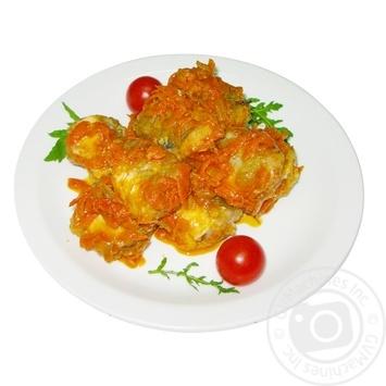 Рыба тушеная с овощами