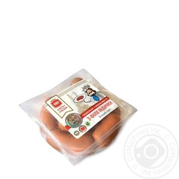 Сардельки Мясная гильдия со сливками и с филе индейки - купить, цены на Ашан - фото 2