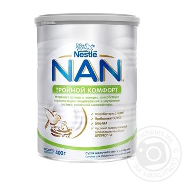 Суха суміш дитяча Nestle NAN з народження Потрійний комфорт 400г - купити, ціни на Novus - фото 1