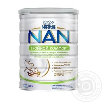 Смесь детская Nestle NAN тройной комфорт с рождения 800г - купить, цены на Ашан - фото 1