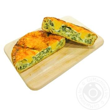 Пиріг з сиром, шпинатом та яйцем - купити, ціни на МегаМаркет - фото 1