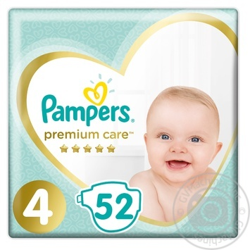 Подгузники Pampers Premium Care 4 Maxi 9-14кг 52шт - купить, цены на Novus - фото 1
