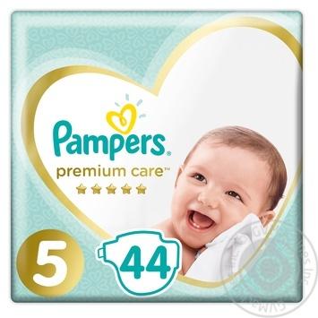Подгузники Pampers Premium Care 5 Junior 11-16кг 44шт - купить, цены на МегаМаркет - фото 1