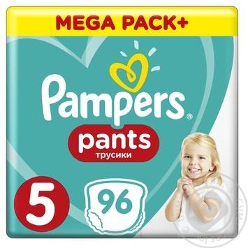 Подгузники-трусики Pampers Pants Размер 5 Junior 12-17кг 96шт - купить, цены на Novus - фото 1