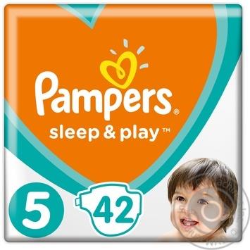 Подгузники Pampers Slip & Play Junior 5 11-16кг 42шт - купить, цены на Фуршет - фото 1