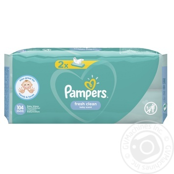 Pampers Fresh Clean Wipes 2х52pcs - buy, prices for CityMarket - photo 2