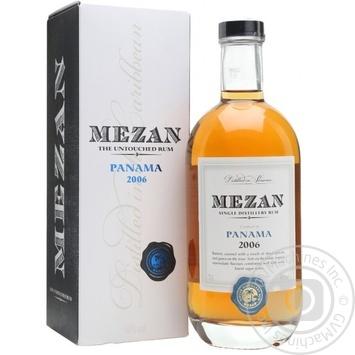 Ром Mezan Panama 2006 40% 0,7л - купити, ціни на МегаМаркет - фото 1