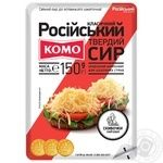 Hard cheese Komo Rossiyskyi Classic sliced 50% 150g - buy, prices for  Vostorg - image 1