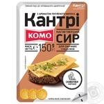 Сир Комо Кантрі напівтвердий зі смаком пряженого молока нарізаний 50% 150г