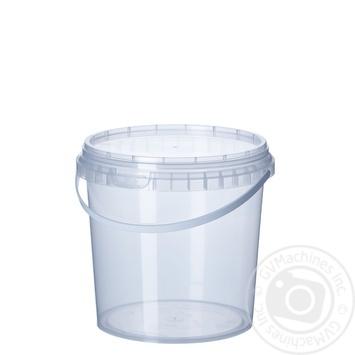 Ведро пластиковое 1л - купить, цены на Метро - фото 1