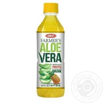 OKF Farmer's aloe vera with pineapple beverage 500ml - buy, prices for Metro - image 1