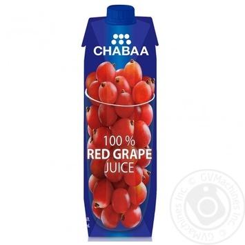 Сок Chabaa красного винограда 1л - купить, цены на Novus - фото 1
