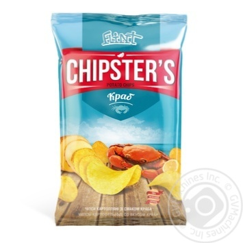 Flint Chipster's with Crab Chips 70g - buy, prices for MegaMarket - photo 1