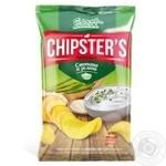 Чипсы Flint Chipster's картофельные со вкусом сметаны с зеленью 70г
