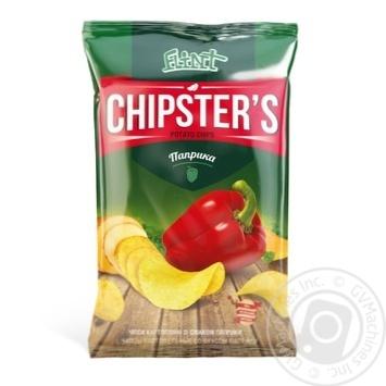 Чіпси Flint Chipster's картопляні зі смаком паприки 70г Україна - купити, ціни на Novus - фото 1