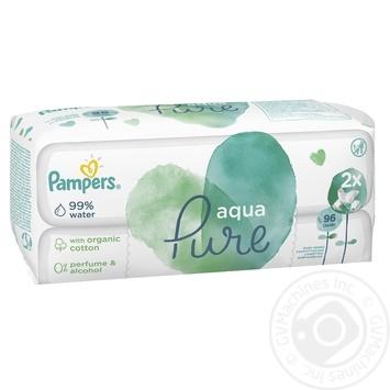 Pampers Aqua Pure Wet wipes kids 96pcs - buy, prices for MegaMarket - image 1