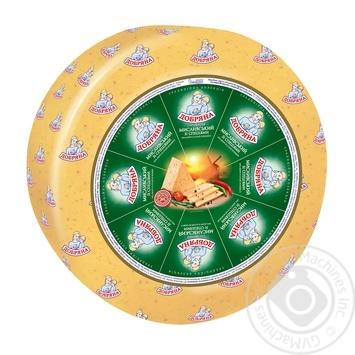 Сыр Добряна Охотничий твердый 50% - купить, цены на Метро - фото 1