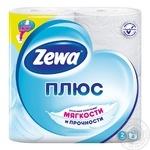 Туалетная бумага Zewa Плюс белый 2-х слойная 4шт - купить, цены на Novus - фото 1