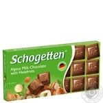 Schogetten Milk Chocolate with Chopped Hazelnut Kernels 100g
