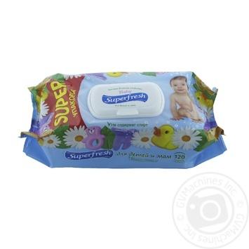Super Fresh Wet Napkin for Children with Valve 120pcs - buy, prices for Novus - image 1