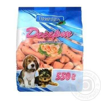 Priroda Dessert Beef-Bacon Treat for Dogs 550g - buy, prices for CityMarket - photo 1